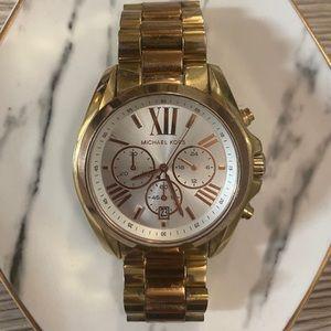 Michael Kors Bradshaw Watch- Gold/Rose Gold